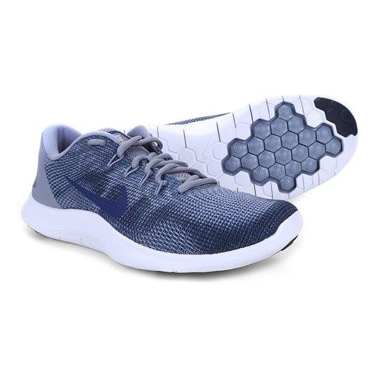 4c3a620fdc3 Tênis Nike Flex 2018 Rn Masculino - Azul e Cinza - Compre Agora ...