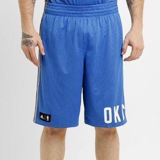 28ce64cd09 Bermuda Adidas NBA Oklahoma City Thunder Reversível