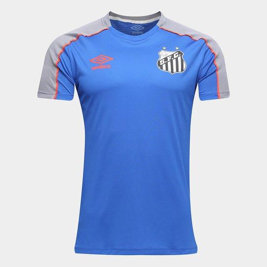 1ed7f452430bf Camisa Santos 2019 Treino Umbro Masculina - Azul e Cinza - Compre ...