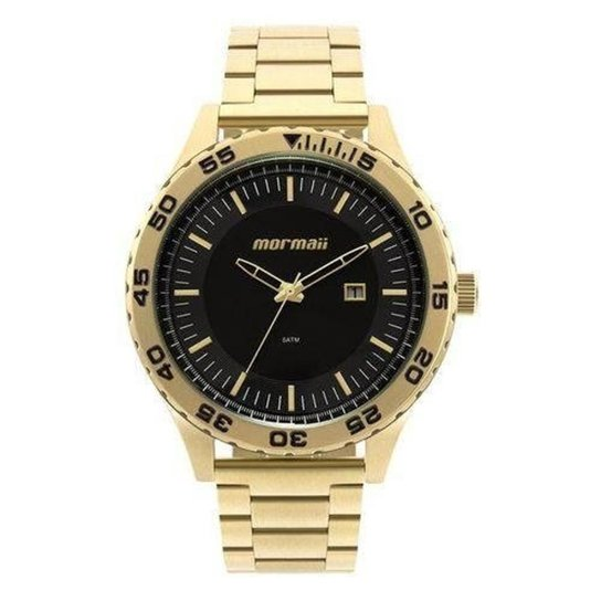 ae26a6d6dac Relógio Mormaii MO2115AZ 4P Masculino - Dourado - Compre Agora ...