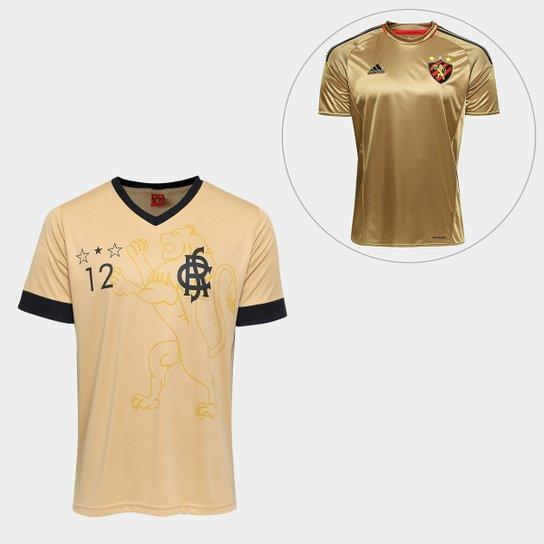 e6a2487b4fbfb Camisa Sport Recife Gold + Camisa Sport Recife III 2016 Adidas - Dourado