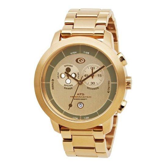 a874bac7af9 Relógio De Pulso Ripcurl Atlantis Ats - Aço - Dourado - Compre Agora ...