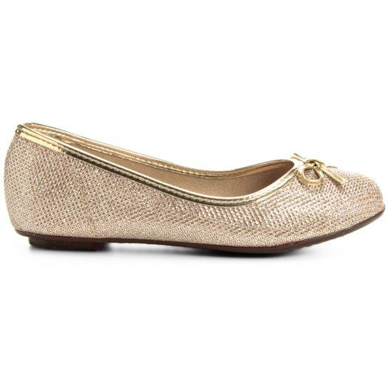 3219fdfc2d Sapatilha Molekinha Glitter Infantil - Dourado