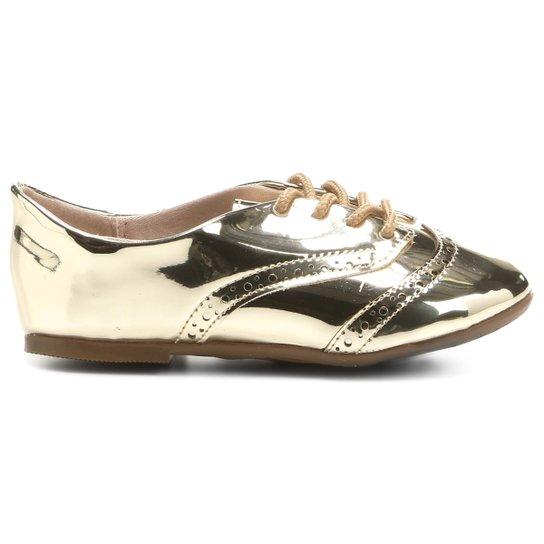b9c91f684c Sapato Molekinha Oxford Metalizado Baby Infantil - Compre Agora ...