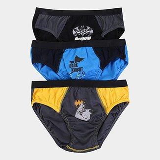 6838947b6 Kit de Cuecas Infantil Lupo Slip Estampa Batman 3 Peças