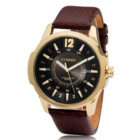 dd93a1f18ca Relógio Curren Analógico - Dourado - Compre Agora