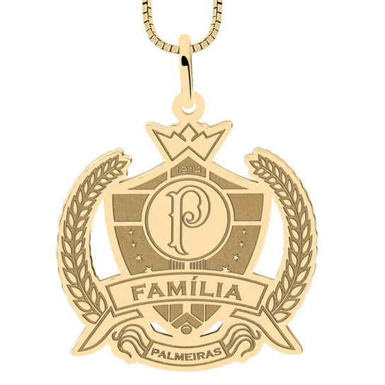 Pingente Palmeiras Família Folheado a Ouro - Compre Agora  1266668e89ef4