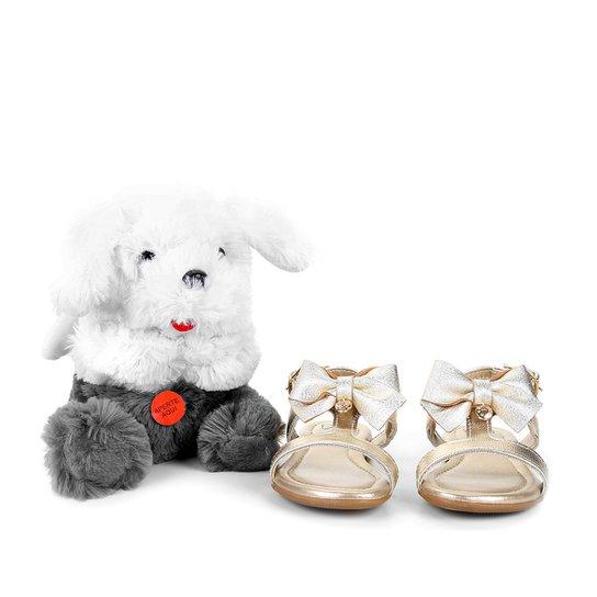 80275bee6d Sandália Infantil Klin Suami Baby Anjinho Feminina - Dourado