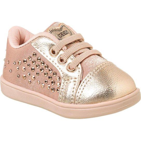 43cca151be Tênis Bebê Klin Mini Gloss Tachas Feminino - Dourado - Compre Agora ...