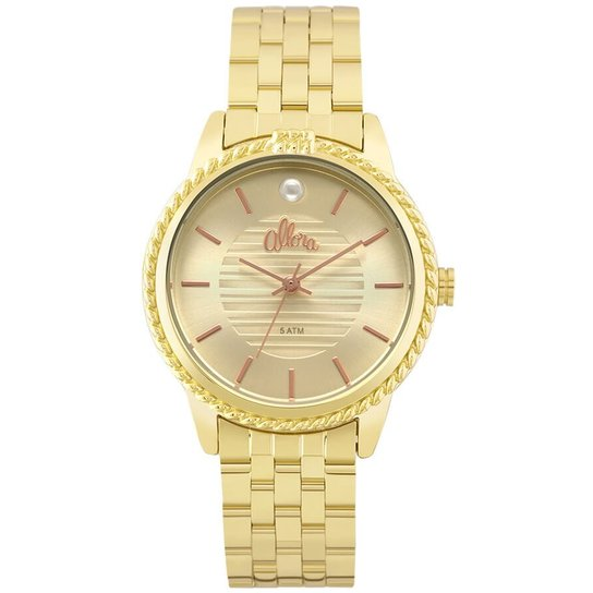 7e24c6cf9a7ce Relógio Allora Al2035Fkv 4X - Dourado - Compre Agora