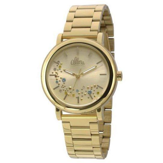 5ab7d0cb5f2 Relógio Technos Feminino Elegance Stone Collection - Dourado ...