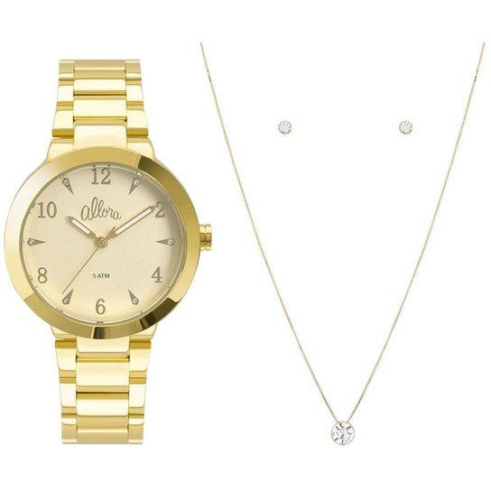 a1913d3fa67 Kit Relógio Allora Feminino Serena AL2036CI K4Y - AL2036CI K4Y - Dourado