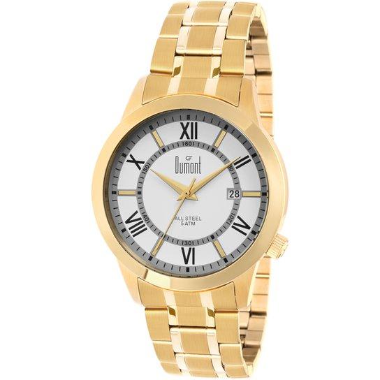 43e6658ff0a Relógio Dumont Analógico Dourado - Compre Agora