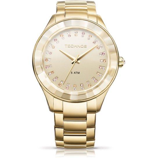 b9f4c09cdfc Relógio Technos Cristais - Dourado - Compre Agora