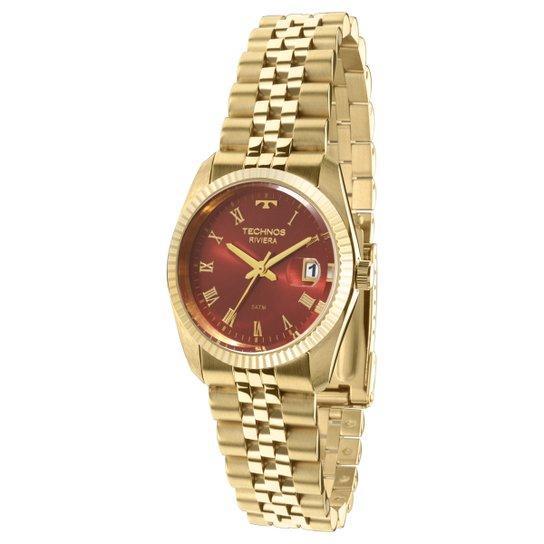 Relógio Technos Pulseira de Aço - Dourado - Compre Agora   Netshoes 3584feb9d7