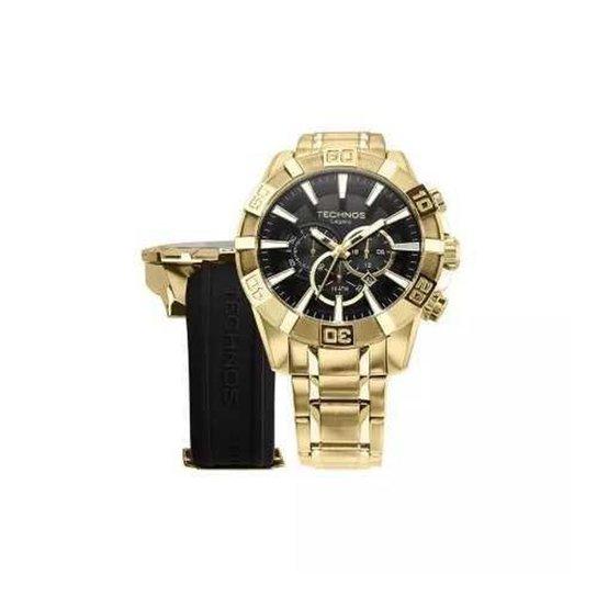 f302e6b536aca Relógio Technos OS2AAJAC 4P Dourado 55mm com Pulseiras Adicionais - Dourado