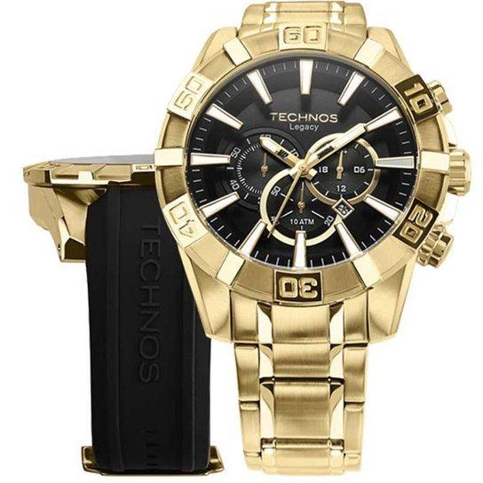 a440e8f3078fc Relógio Technos OS2AAJ 4P   OS2AAJAC 4P 52mm com Pulseiras Adicionais -  Dourado