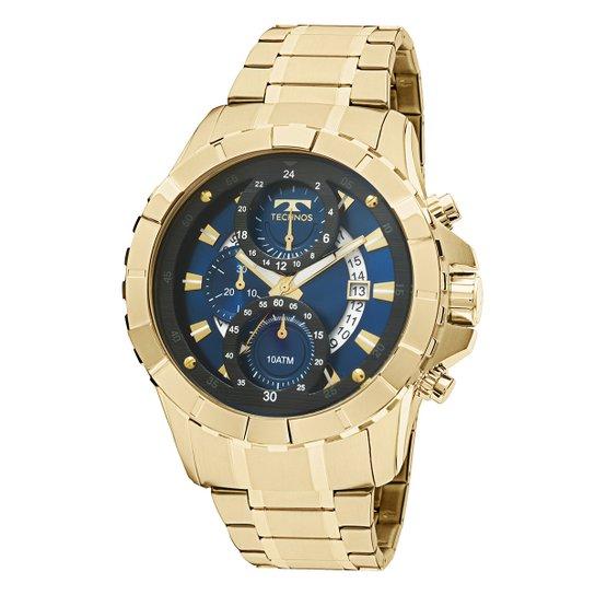 Relógio Technos Masculino JS15EM4A - Dourado - Compre Agora   Netshoes 70122b5af8