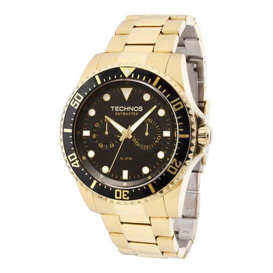 Relógio Technos Masculino 6P25BF4P - Dourado - Compre Agora   Netshoes 813457af88