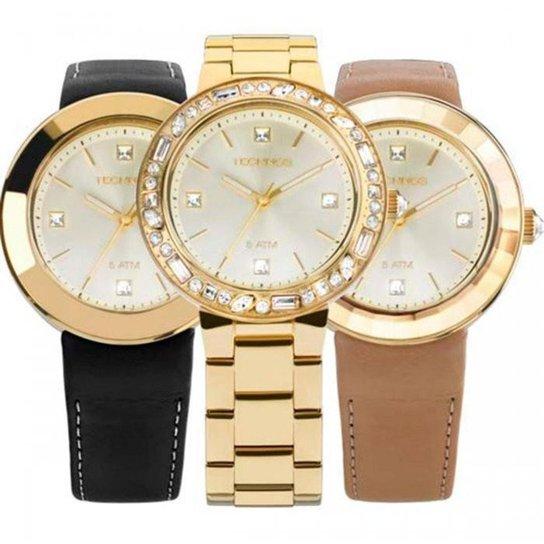 8c21a9ee500 Relógio Technos Swarovski Troca Pulseiras 2039AW 4X - Compre Agora ...