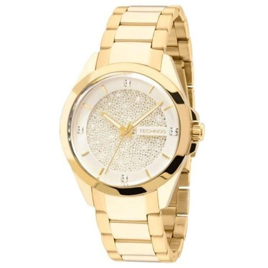 Relógio Technos Crystal Swarovski 203AAA 4K - Compre Agora   Netshoes 56a3285b3a