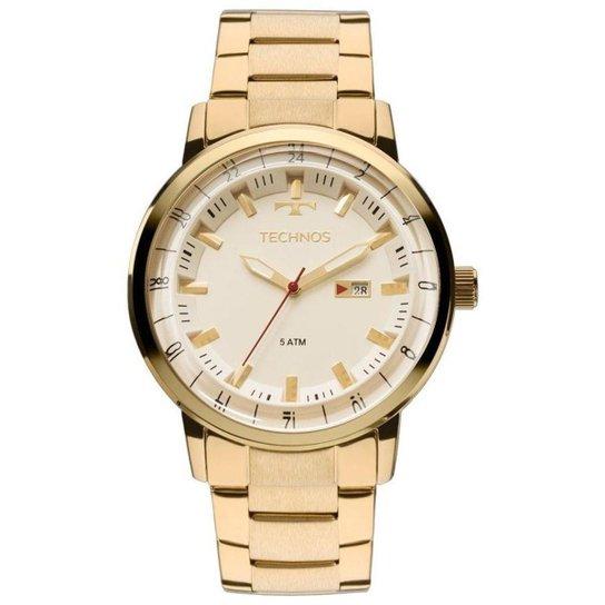 6403d58b77b Relógio Technos Masculino 2115LAP 4X - Dourado - Compre Agora