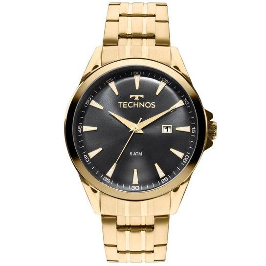 Relógio Technos Masculino 2115LAR 4P - Dourado - Compre Agora   Netshoes 15482174ae