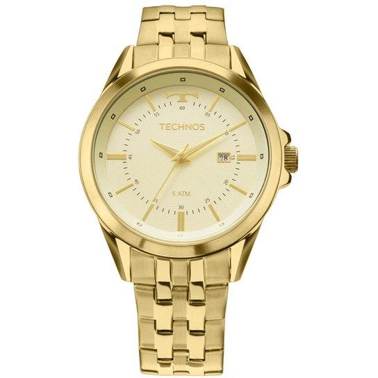 Relógio Technos Masculino 2115Kzc 4X - Dourado - Compre Agora   Netshoes 57797698c5