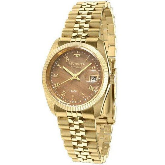 4bd8c1a1d59 Relógio Feminino Technos Riviera GM10YA 4M 36mm Aço Dourado - Dourado