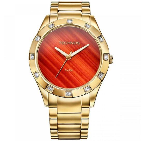 Relógio Technos Feminino Stone Collection Sodalita - Dourado ... 42d310cd80