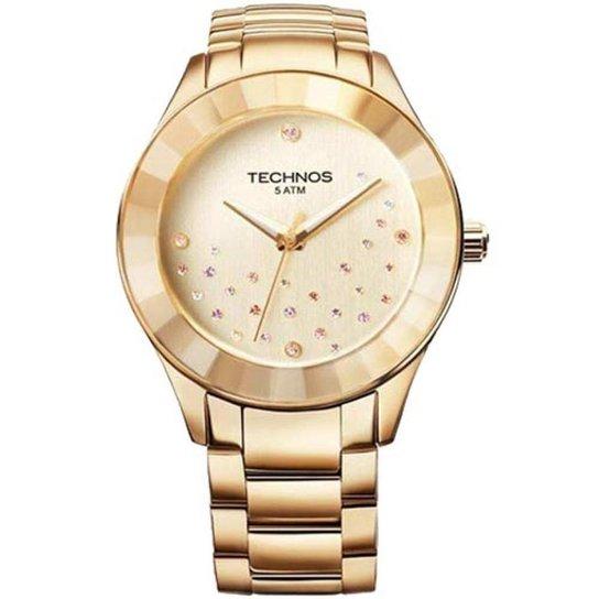 50eb6f8e0c2 Relógio Elegance Crystal Swarovski Technos - Dourado - Compre Agora ...