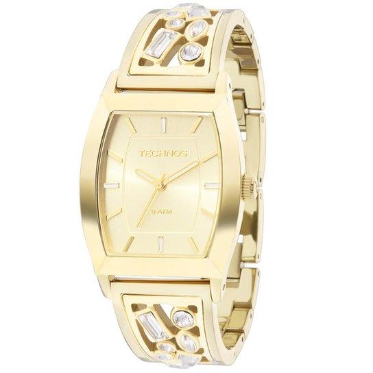 Relógio Technos Crystal Feminino Analógico - 2035LZC 4X 2035LZC 4X - Dourado f33b187089