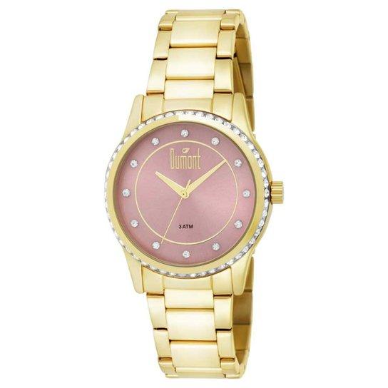 9e84af2504b Relógio Dumont Feminino DU2035LQC 4T - Dourado - Compre Agora