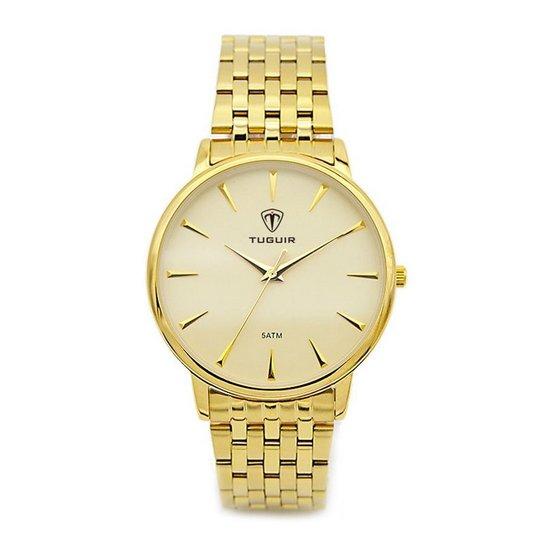 e23d02556a0 Relógio Tuguir Analógico 5041 - Dourado - Compre Agora