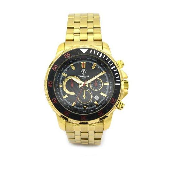 e7a815eb095 Relógio Tuguir Analógico 5008 - Dourado - Compre Agora