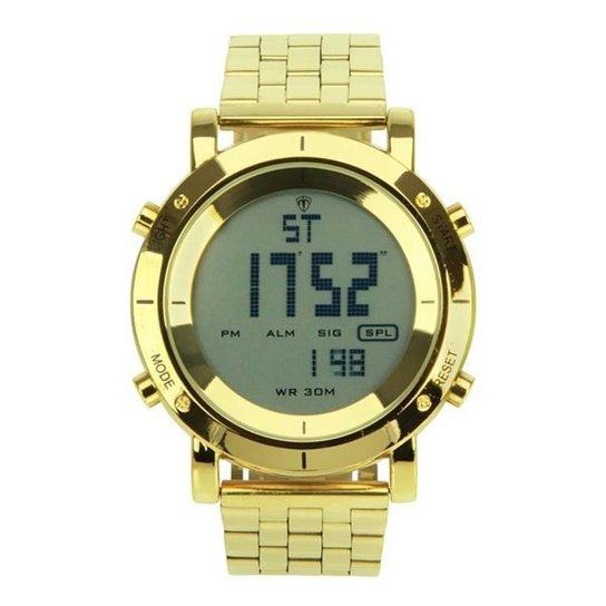 25a58fe46e1 Relógio Masculino Tuguir Metal Digital TG6017 - Dourado - Compre ...