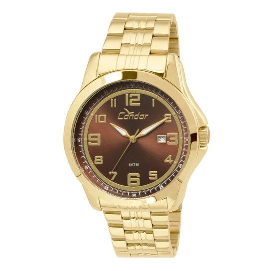 18904fcaeea Relógio Condor Masculino CO2115VP 4M - Dourado - Compre Agora