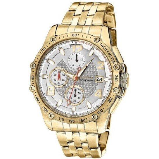 1a37894bdae Relógio Magnum MA32461H - Dourado - Compre Agora