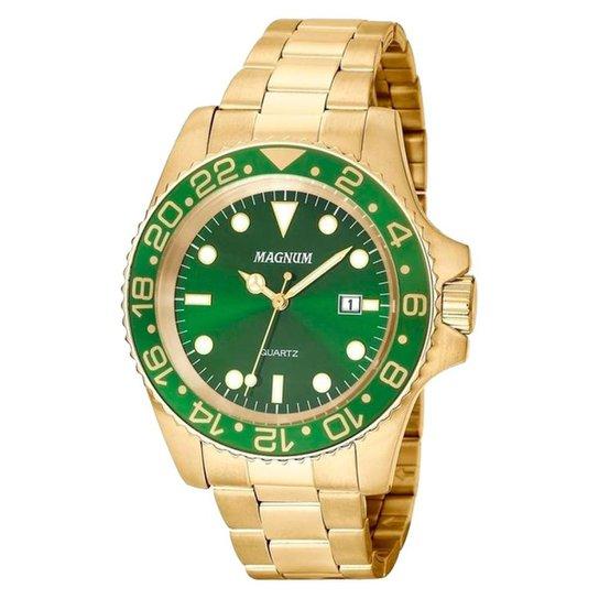 fbc712fda9b Relógio Masculino Magnum Ma32934g - Dourado - Compre Agora