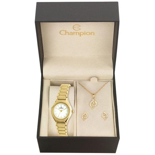 4da0c8a994b Kit Relógio Champion CH26917W + Acessórios - Compre Agora