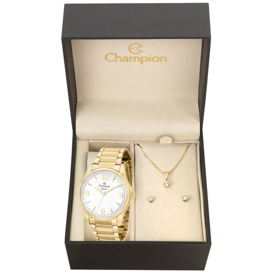 Kit Relógio Champion Feminino Elegance Cn27778W - Compre Agora ... 4d29787cb6
