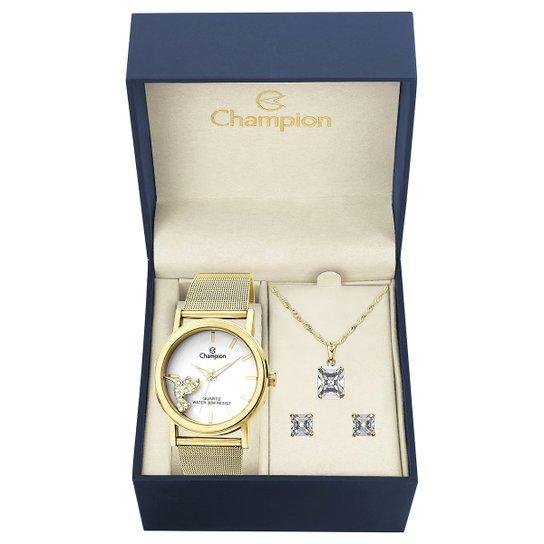 3586cc3861e Kit Relógio Champion Analógico CH25838W Feminino - Compre Agora ...