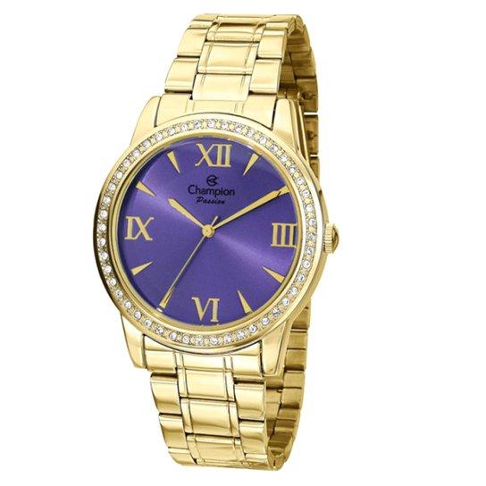 f42218a6c05 Relógio Champion Analógico CH24679D Feminino - Dourado - Compre ...