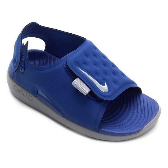 e8eebad8f Sandália Infantil Nike Sunray Adjust 5 - Azul e Cinza | Netshoes