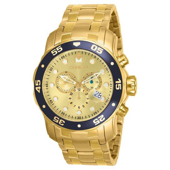 6de04c683c4 Relógio Invicta Pro Diver-80068 - Dourado - Compre Agora