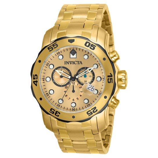 eec25b7bce9 Relógio Invicta Pro Diver-80070 - Dourado - Compre Agora