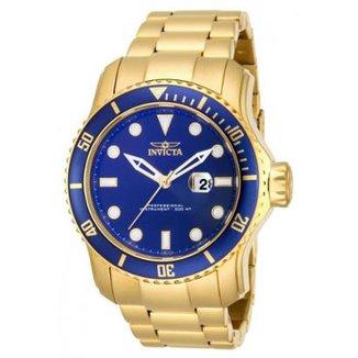 e67f8ea551e Relógio Invicta 15352 Pro Diver 49mm Banhado a Ouro 18k