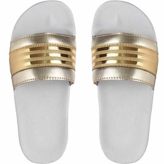 Chinelo Slide Adaption Listrado Feminino