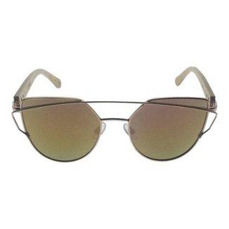 be6c8b1150517 Óculos de Sol Khatto Cat Bamboo Feminino