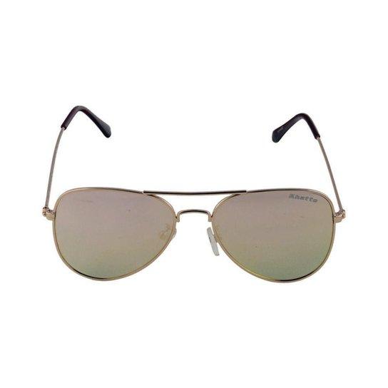7e5176ff57564 Óculos de Sol Khatto Aviador Station Masculino - Dourado - Compre ...